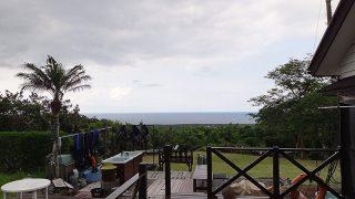 若干雲は多くはあるが日差しは強くて暑くなっていた5/30の八丈島