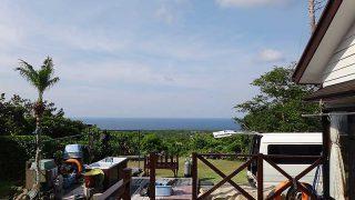 若干雲は広がるが青空あって日中は日差しも強かった6/16の八丈島