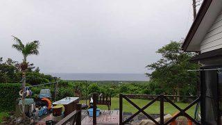 時間と共に雨風強まり荒れた天気となっていた6/18の八丈島