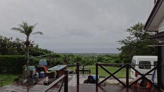 雨風強まり荒れた天気となっていた6/21の八丈島
