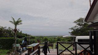 朝方雨は降るものの明るい曇りとなっていた6/23の八丈島