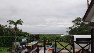 朝夕雨は降るものの日中は明るい曇りだった6/24の八丈島
