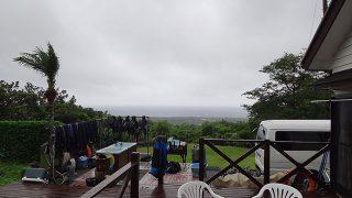 雲は低く降りてきて梅雨らしい天気となっていた6/25の八丈島