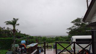 終日雲は広がってグズついた空模様となっていた6/26の八丈島