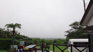 降る雨時折激しくなってた6/28の八丈島