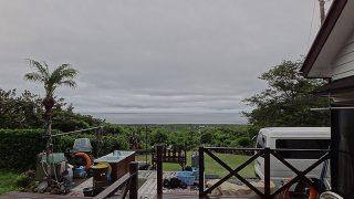 時間ともに雲は薄くもなってきて時折青空も見られた6/29の八丈島