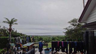 湿度は高いが青空も見られる時間帯もあった6/30の八丈島