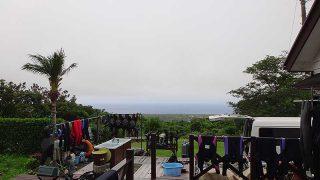 湿度は高く蒸し暑さも続いていた7/3の八丈島
