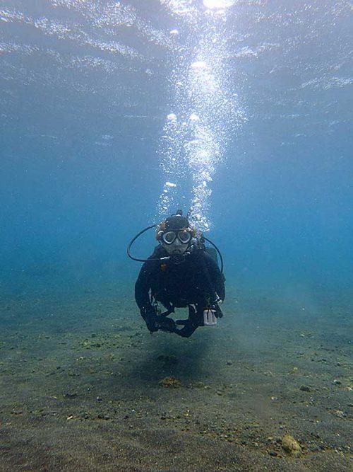 ゆっくり潜って海に慣れ