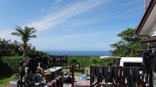 すっきり晴れて夏の青空広がっていた7/10の八丈島