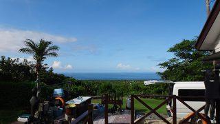 気持ちの良い青空も広がるが所によって雨も降ってた7/11の八丈島