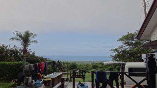早めのうちは雲も出てたが日中は青空広がり暑くもあった7/12の八丈島