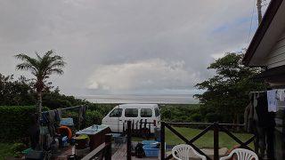 早めのうちは雨も降ってた7/15の八丈島