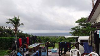 早めのうちは雲も広がり湿度は少し高くもあった7/16の八丈島
