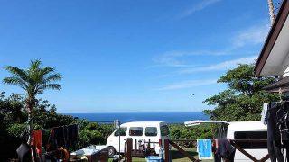 次第に雲は増えてはきてたが日中は青空広がり暑くもあった7/23の八丈島