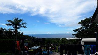 朝方雲は増えてはいたが日中は青空も広がっていた7/25の八丈島