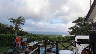 雲も広がる時間帯はあるが日中は青空広がっていた7/28の八丈島