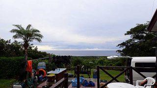 早めのうちは雲が多めで所によって雨も降ってた8/2の八丈島
