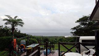 時間ともに雨も上がって青空見えてた8/4の八丈島