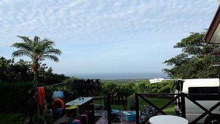 雲は多いが早めのうちは青空もあった8/7の八丈島