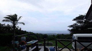 次第に雲は晴れてきて夏の青空広がっていた8/8の八丈島