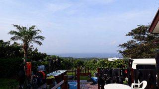 日中は爽やかな青空も広がっていた8/21の八丈島