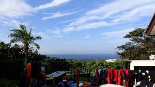 朝から青空も広がり暑くもなっていた8/24の八丈島