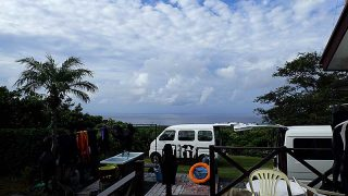 次第に青空広がって爽やかな一日となっていた9/5の八丈島