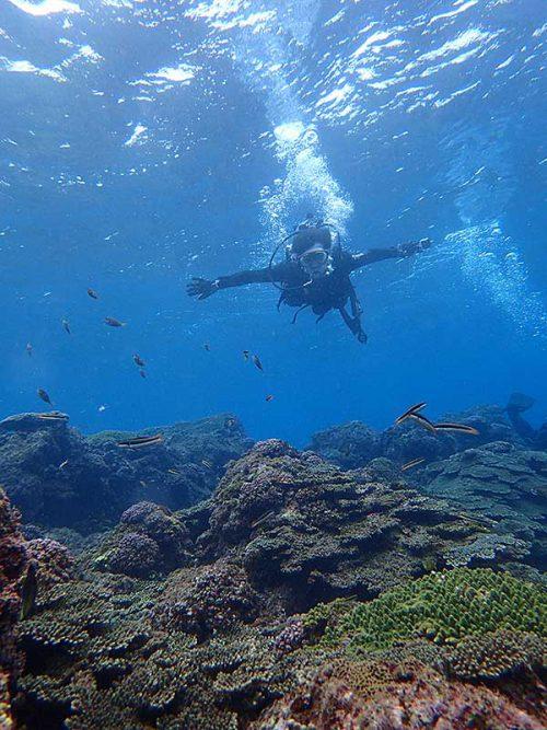 ちょっと沖でば水も綺麗で魚もたくさんおりまして