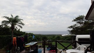 夕方少し雲は増えるが日中は青空も広がっていた9/10の八丈島