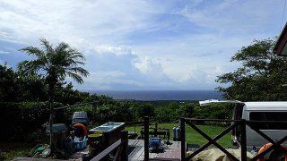 日中晴れ間はあるものの雲は広がりやすかった9/17の八丈島