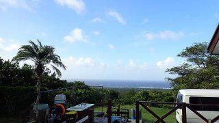 風は若干強くはあるが青空も広がってきていた9/18の八丈島