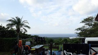 少し雲は増えてはいるが爽やかな青空も続いていた9/20の八丈島