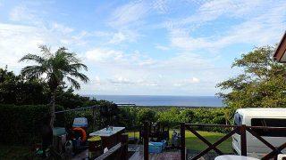 カラッと涼しい風も吹き青空は広がっていた9/25の八丈島