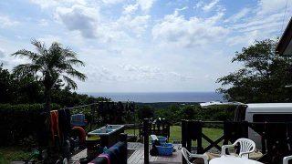 日中風は強まるが青空広がり爽やかな陽気が続いていた9/26の八丈島