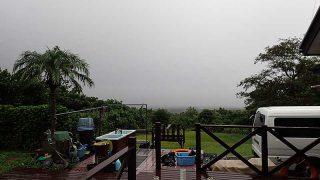 早めのうちには雨は上がってきていた10/7の八丈島
