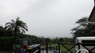 雨風強まり気温は上がらず一気に涼しくなってた10/15の八丈島