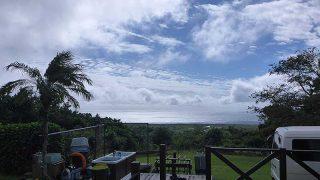 時折雨はパラつくものの青空も見られていた10/20の八丈島