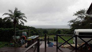 雨は降ったり止んだりでグズついた空模様が続いていた10/21の八丈島