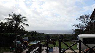早めのうちは青空あるが雲は多めで涼しくなってた10/24の八丈島