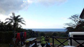 空気は乾いてカラッと涼しい風も吹いていた10/27の八丈島