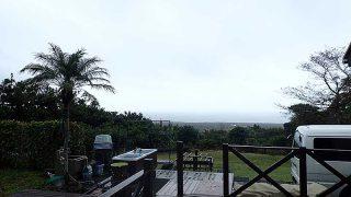雨は上がるが空には雲も広がっていた10/29の八丈島