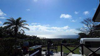 朝夕雨は降るものの日中は青空広がっていた11/1の八丈島