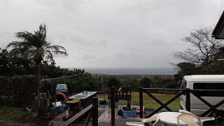 気温は上がらずだがゆっくり天気は回復してきた11/4の八丈島