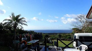 空気は涼しくなるものの爽やかな青空が広がっていた11/5の八丈島