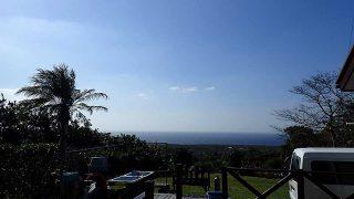 青空広がり日中は暖かくもなっていた11/9の八丈島