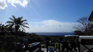 次第に青空広がって風は涼しいが日差しは暑かった11/12の八丈島