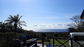 風は弱まり爽やかな青空も広がっていた11/17の八丈島
