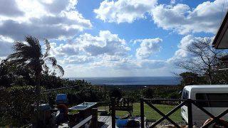 寒さは続くが気持ちの良い青空が広がってきていた11/19の八丈島