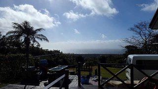 寒さは緩むが雨風強まり荒れた天気となっていた11/23の八丈島